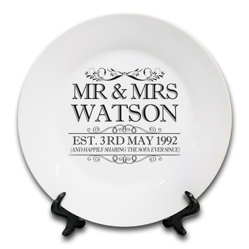 Personalised Happily Sharing The Sofa... Novelty Ceramic Plate